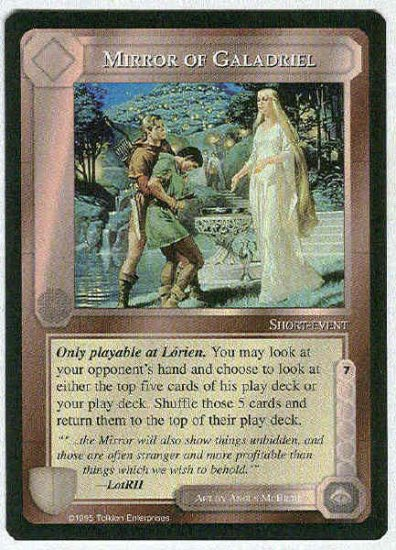 Middle Earth Mirror Of Galadriel Uncommon Game Card