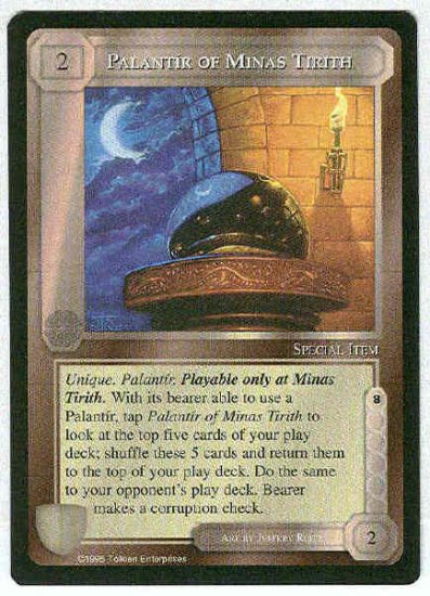Middle Earth Palantir Of Minas Tirith Uncommon Game Card