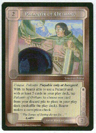 Middle Earth Palantir Of Orthanc Uncommon Game Card