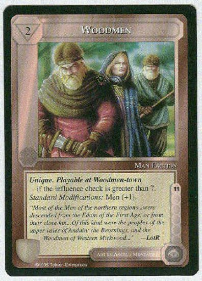 Middle Earth Woodmen Wizards Uncommon Game Card