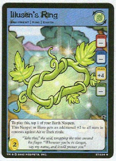Neopets CCG Base Set #57 Illusen's Ring Rare Game Card