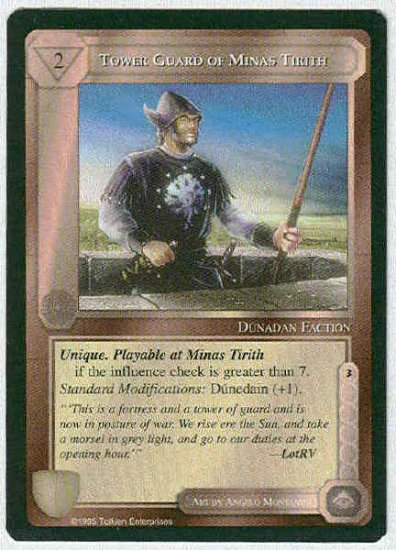 Middle Earth Tower Guard Of Minas Tirith Fixed Game Card