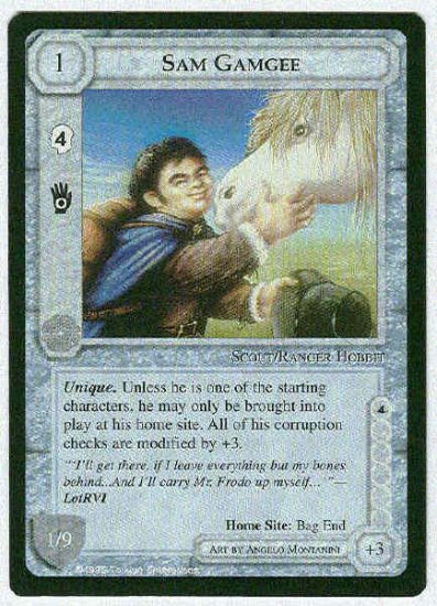 Middle Earth Sam Gamgee Wizards Uncommon Game Card