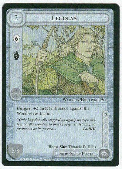 Middle Earth Legolas Wizards Limited Uncommon Game Card