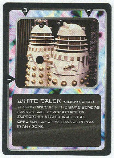 Doctor Who CCG White Dalek Uncommon Black Border Card