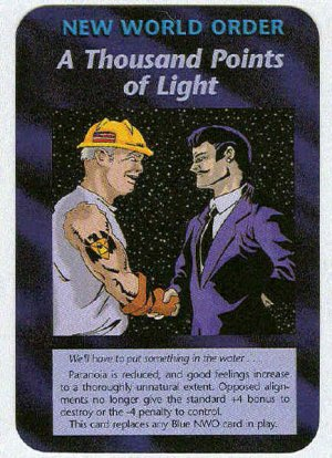 Illuminati A Thousand Points Of Light NWO Game Trading Card