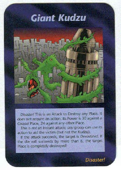 Illuminati Giant Kudzu New World Order Game Trading Card