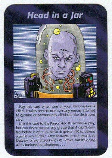 Illuminati Head In A Jar New World Order Game Trading Card