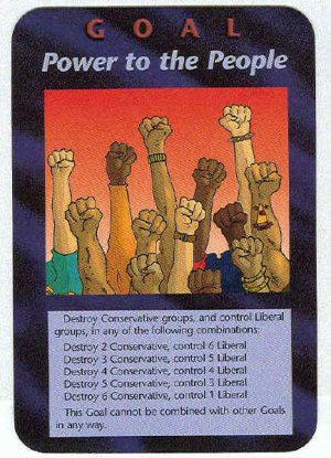 Illuminati Power To The People New World Order Game Card