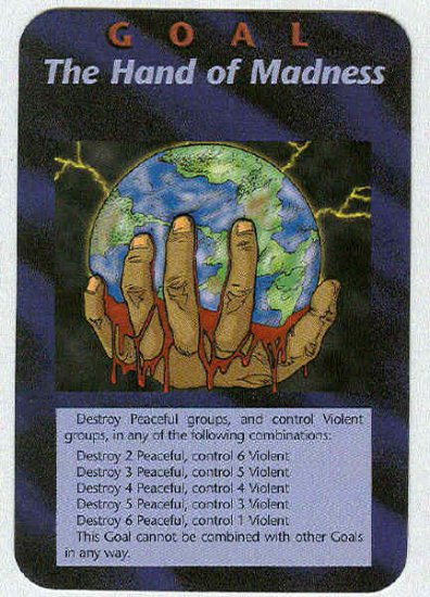 Illuminati The Hand Of Madness New World Order Game Card