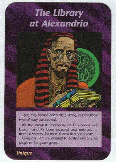 Illuminati The Library At Alexandria NWO Game Trading Card