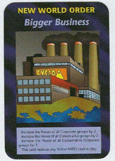 Illuminati Bigger Business New World Order Game Card
