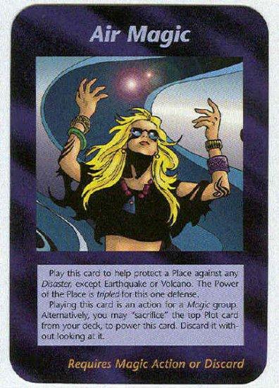 Illuminati Air Magic New World Order Game Trading Card