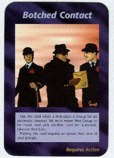Illuminati Botched Contact New World Order Game Card