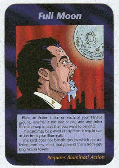 Illuminati Full Moon New World Order Game Trading Card