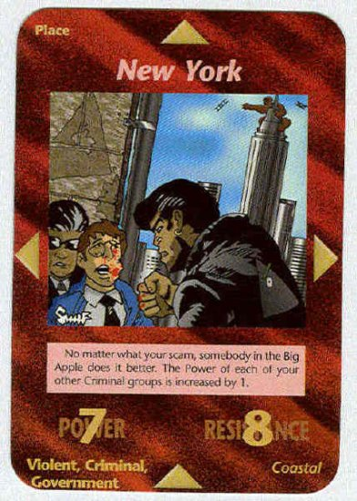 Illuminati New York New World Order Game Trading Card