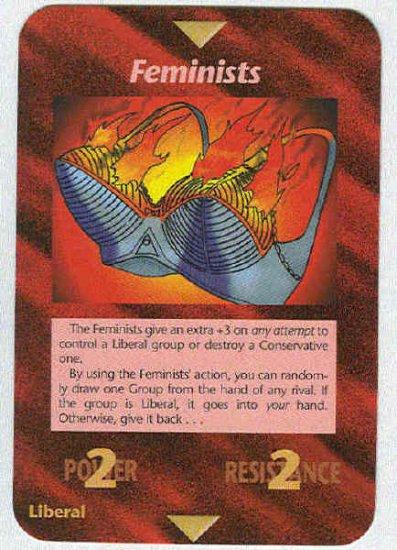 Illuminati Feminists New World Order Game Trading Card