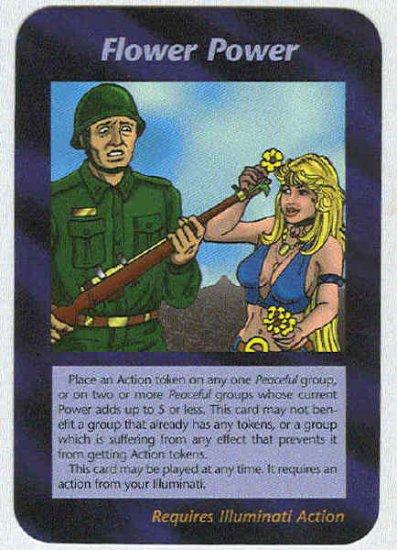 Illuminati Flower Power New World Order Game Trading Card