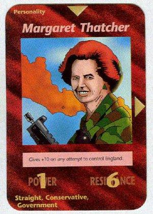 Illuminati Margaret Thatcher New World Order Game Card