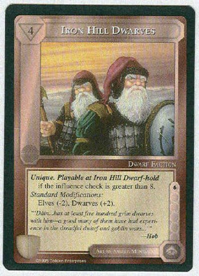 Middle Earth Iron Hill Dwarves Wizards Fixed Game Card