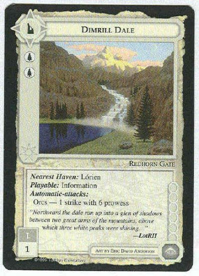 Middle Earth Dimrill Dale Wizards Uncommon Game Card