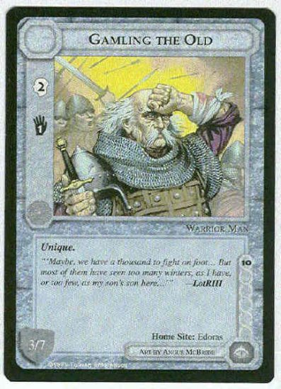 Middle Earth Gamling The Old Wizards Uncommon Game Card