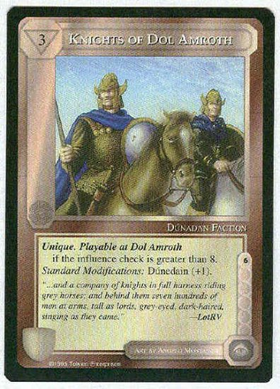 Middle Earth Knights Of Dol Amroth Uncommon Game Card