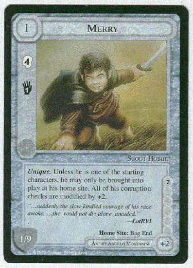 Middle Earth Merry Wizards Limited Uncommon Game Card