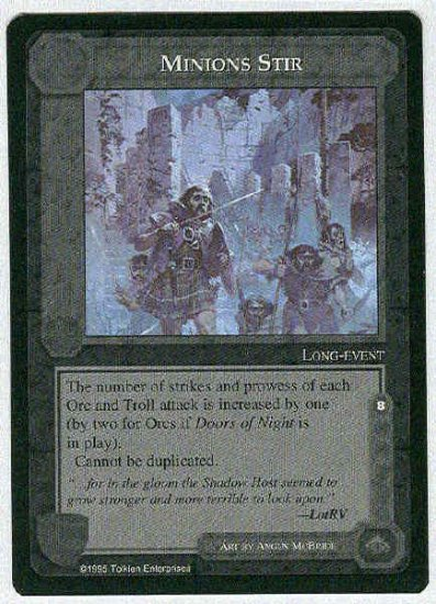Middle Earth Minions Stir Wizards Uncommon Game Card