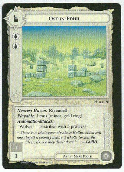 Middle Earth Ost-in-Edhil Wizards Uncommon Game Card