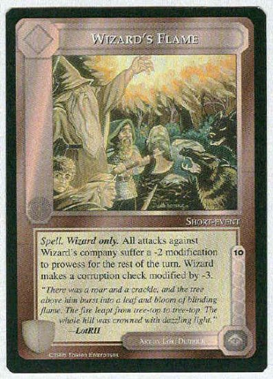 Middle Earth Wizard's Flame Uncommon Limited Black Border Game Card