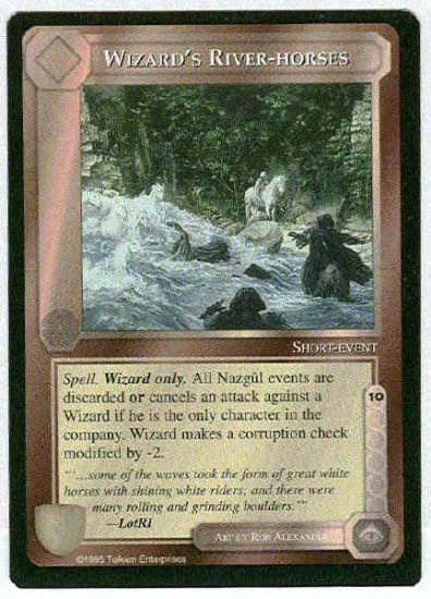 Middle Earth Wizard's River-horses Uncommon Game Card