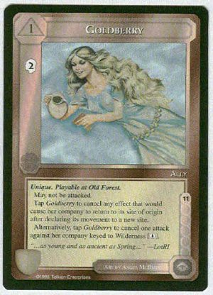 Middle Earth Goldberry Wizards Uncommon Game Card