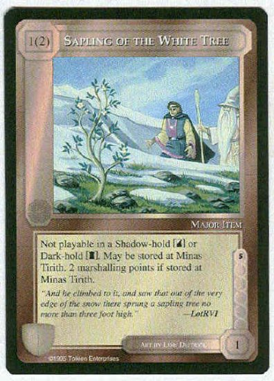 Middle Earth Sapling Of The White Tree Uncommon Card