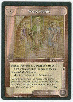 Middle Earth Wood-elves Wizards Limited Fixed Game Card