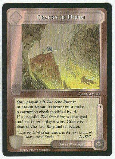 Middle Earth Cracks Of Doom Wizards Uncommon Game Card