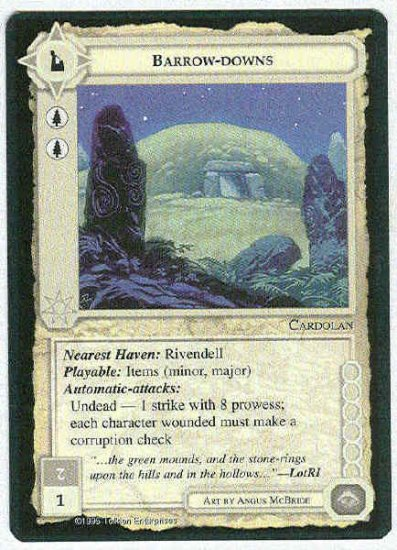 Middle Earth Barrow-downs Wizards BB Fixed Game Card