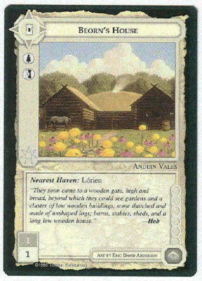 Middle Earth Beorn's House Wizards Limited Fixed Game Card
