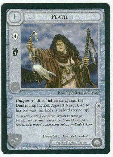 Middle Earth Peath Wizards Limited Fixed Game Card