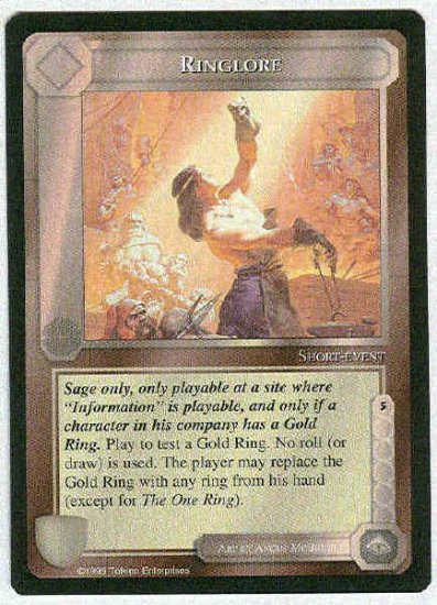 Middle Earth Ringlore Wizards BB Uncommon Game Card