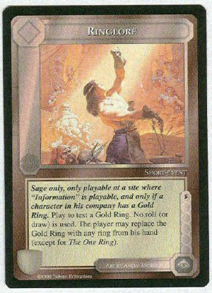 Middle Earth Ringlore Wizards Limited Uncommon Game Card