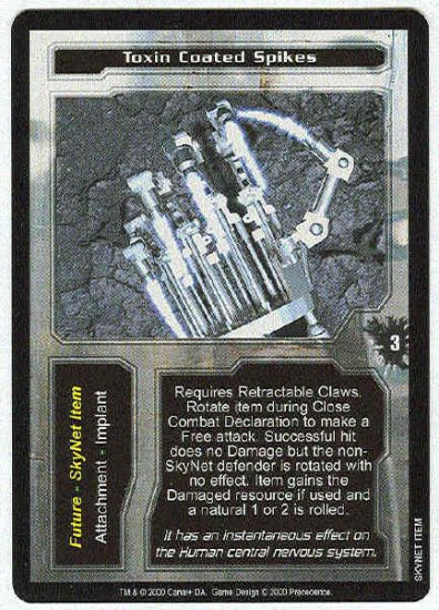 Terminator CCG Toxin Coated Spikes Uncommon Game Card