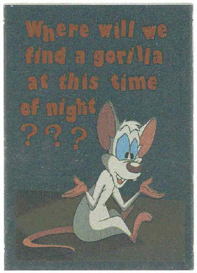 Animaniacs Foil Sticker #7 Pinky Chase Trading Card