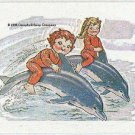 Campbell's 1995 Collection Sticker Card Kids Riding Dolphins