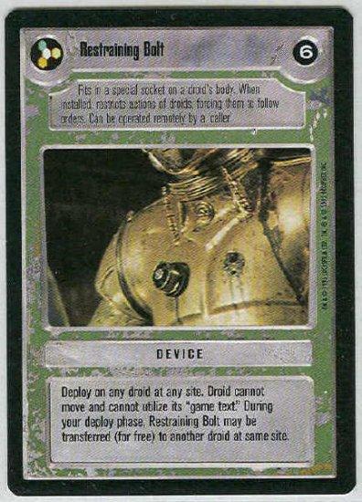 Star Wars CCG Restraining Bolt Limited Light Side Game Card