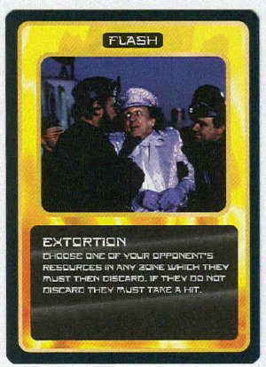 Doctor Who CCG Extortion Uncommon Game Trading Card