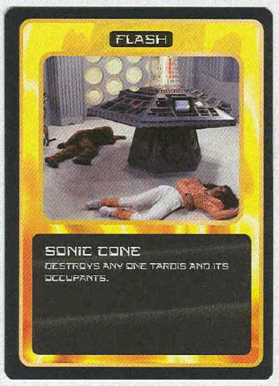Doctor Who CCG Sonic Cone Uncommon BB Game Card