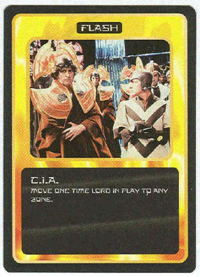 Doctor Who CCG C.I.A. Uncommon Black Border Game Card