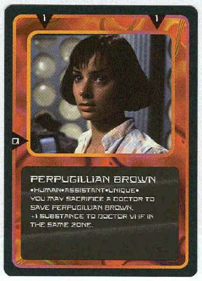 Doctor Who CCG Perpugillian Brown Uncommon Card Nicola Bryant