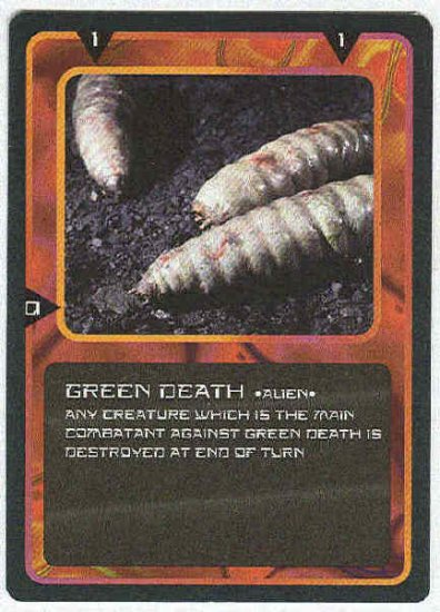 Doctor Who CCG Green Death Uncommon Black Border Game Card